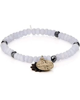 Charms On Beaded Bracelet