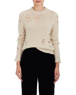 Shredded Cashmere Sweater