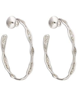 Fluid Diamonds Hoop Earrings