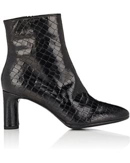 Elte Stamped Leather Ankle Boots