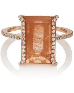 Rutile & White Diamond Ring