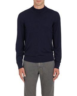 Wool Mock Turtleneck Sweater