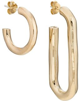 Deconstruct Hoop Earrings
