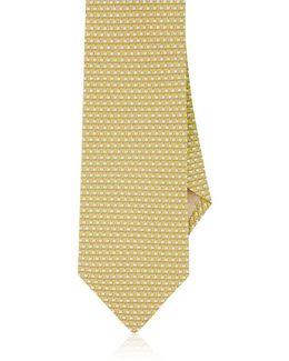 Wilting Flower Print Silk Tie