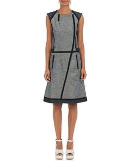 Cotton Denim Wrap Dress