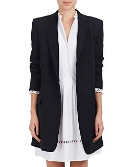 Wool Twill Long Blazer