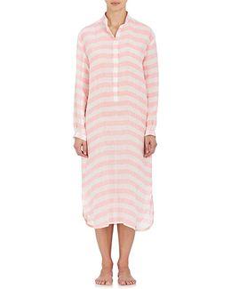 Striped Linen Sleep Shirt
