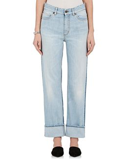 Bella Colorblocked Straight Crop Jeans