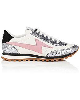 Astor Leather & Glitter Sneakers