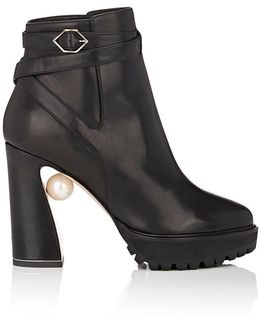 Annabel Leather Ankle Boots