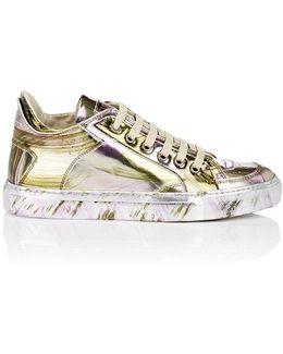 Brushstroke Specchio Leather Sneakers