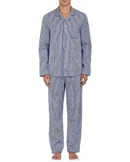 Wellington Striped Cotton Pajama Set