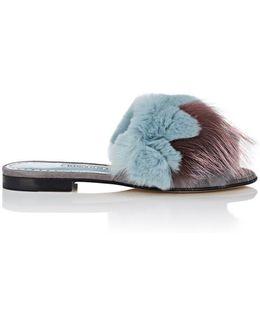 Pelosusrafo Rabbit Fur & Suede Slides