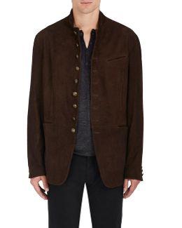 Flannel Suede Cutaway Jacket