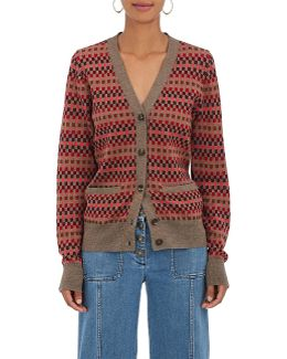 Checked Wool Cardigan