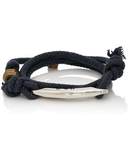 Rope Wrap Bracelet With Id Bar