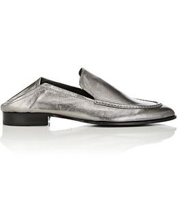 Alix Metallic Leather Loafers
