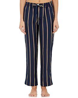 Marina Striped Silk Pajama Pants
