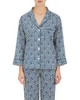 Marina Floral Cotton Pajama Shirt