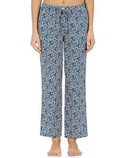 Marina Floral Cotton Pajama Pants