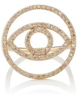 Evil Eye White Diamond Ring