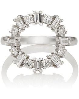 White Diamond & White Gold Ring