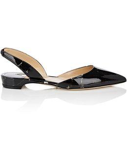Rhea Patent Leather Slingback Flats