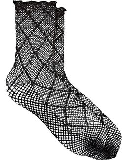 Cotton-blend Fishnet Mid