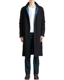Cotton Twill Reversible Mackintosh Coat