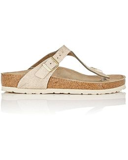Gizeh Distressed Leather Thong Sandals
