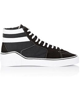George V Suede & Canvas Sneakers