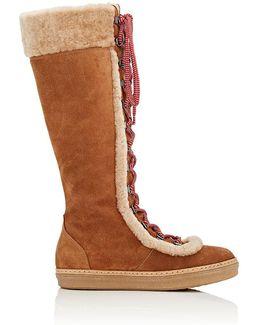Moon Shearling Knee Boots