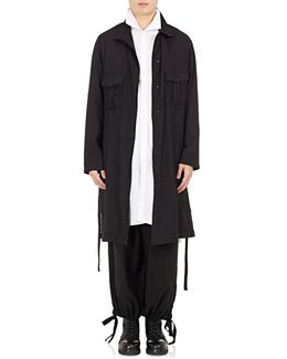 Lightweight Wool Belted Military Coat