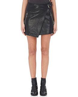Kakili Leather Miniskirt