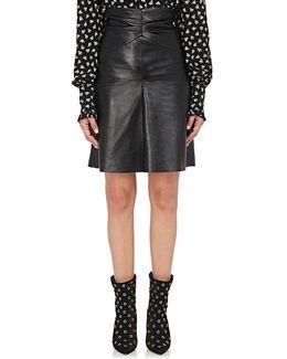 Gladys Lambskin Skirt