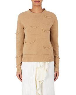 Draped-pocket Wool