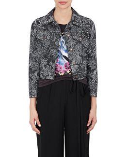 Embellished Floral Denim Jacket