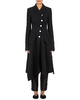 Nubby Tweed Convertible Coat