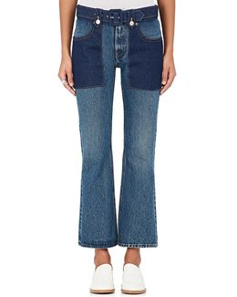 Belted Flared Jeans