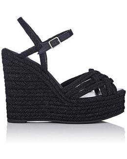 Raffia Platform Espadrille Sandals