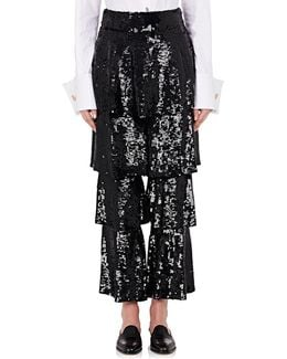 Felix Sequined Tiered Trousers
