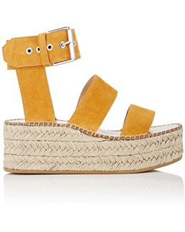 Tara Suede Wedge Sandals