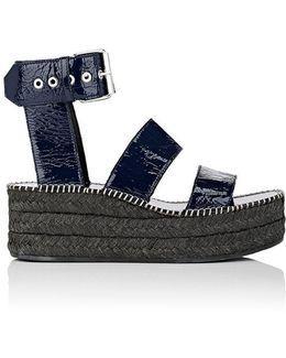 Tara Patent Leather Wedge Sandals