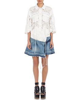 Lace & Denim Dress