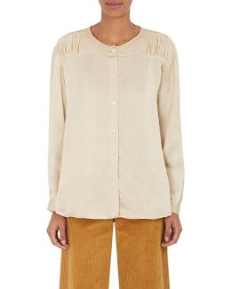 Hammered Silk Charmeuse Blouse