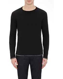 Colorblocked Cotton Long-sleeve T