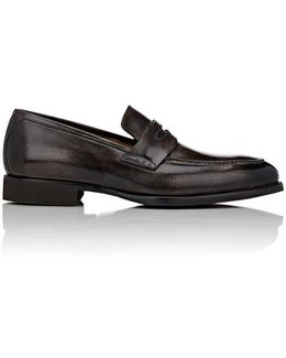 Burnished Penny Loafers
