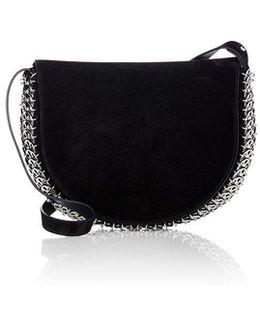 Chain Mail Detail Shoulder Bag