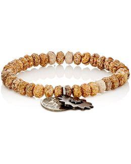 Pietersite Rondelle & Charm Bracelet