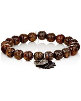 Bronzite Bead & Charm Bracelet